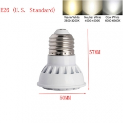 Ranpo Dimmable  E26 9W LED Spot Light 3030 SMD Cool Warm Neutral White AC  110V