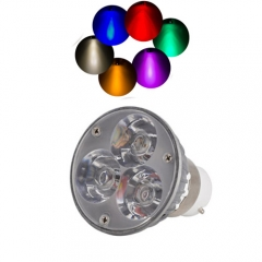 Ranpo B22 6W LED Spotlight Cool/Neutral/Warm White Red Blue Yellow Purple AC 220V