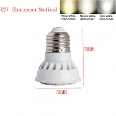 Ranpo E27 9W LED Spot Light 3030 SMD Cool Warm Neutral White AC 85-265V