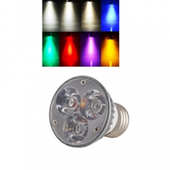 Ranpo E27 6W LED Spotlight Cool/Neutral/Warm White Red Blue Yellow Purple AC 85-265V