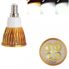 Ranpo Golden Color Dimmable  E14 15W LED Spotlight Warm Cold Natural White AC  220V