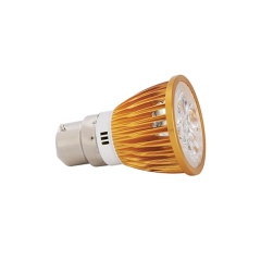 Ranpo Dimmable Golden Color B22 15W LED Spotlight Warm Cold Natural White  220V