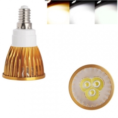 Ranpo Golden Color Dimmable E14 9W LED Spotlight Warm Cold Natural White AC  220V