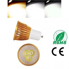Ranpo Golden Color Dimmable GU10 9W LED Spotlight Warm Cold Natural White AC 110V/220V