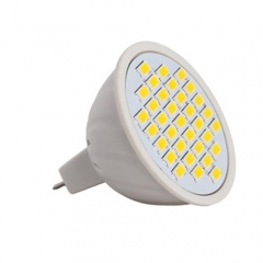 RANPO Dimmable MR16 LED Spotlight 6W Bulb 5730 SMD AC 110V/220V Warm/Neutral/Cool White 33 LEDs
