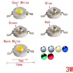 RANPO 10 pcs/lots 3W LED Chip Cool White/Warm White/Blue/Green/Red High Power Bead Lamp