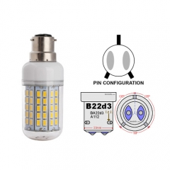 Ranpo B22D-3 22W LED Corn Light Bulb 96 LEDs 5730 SMD Warm/Natural/Cool White AC 110V 220V