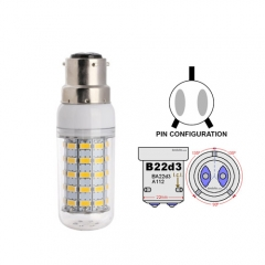 Ranpo B22D-3 13W LED Corn Light Bulb 59 LEDs 5730 SMD Warm/Natural/Cool White AC 110V 220V