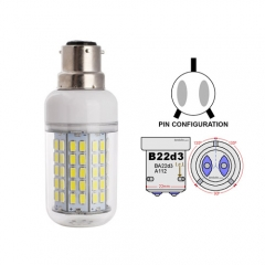 Ranpo B22D-3 22W LED Corn Light Bulb 90 LEDs 5730 SMD Warm/Natural/Cool White AC 110V 220V