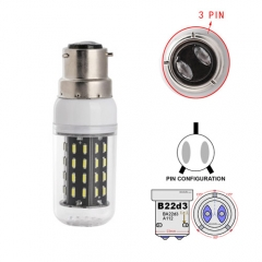 RANPO B22D-3 12W AC 110V 220V LED Corn Bulb 4014 SMD 56 LEDs Cool Warm White