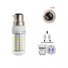 Ranpo B22D-3 12W LED Corn Light Bulb 56 LEDs 5730 SMD Warm/Natural/Cool White AC 110V 220V