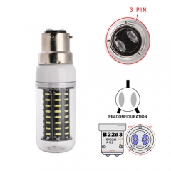 RANPO B22D-3 18W AC 110V 220V LED Corn Bulb 4014 SMD 72 LEDs Cool Warm White