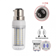 RANPO White B22D-3 18W AC 110V 220V LED Corn Bulb 4014 SMD 72 LEDs Cool Warm White