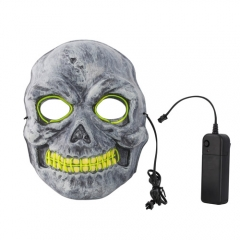 Neon Rave Skull Masquerade Ball Light Green EL Wire + Controller Halloween Party Fancy Dress Costume