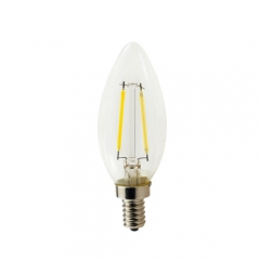 RANPO Dimmable E14 2W 220V LED Bulb, Warm/Cool White Filament Candle Light,20W Equivalent