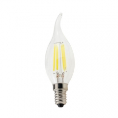 RANPO Dimmable E14 4W 220V LED Flame Candelabra Bulb, Warm White 2800K,Cool White 6000K,Filament Candle Light,40W Equivalent