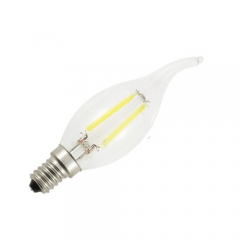 RANPO Dimmable  E14 2W 220V LED Flame Candelabra Bulb, Warm/Cool White Dimmable Filament Candle Light,20W Equivalent