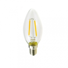 RANPO Dimmable E12 2W 110V LED Candelabra Bulb, Warm/Cool White Filament Candle Light,20W Equivalent