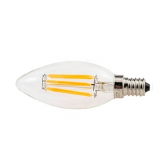RANPO Dimmable E14 6W 220V LED Bulb, Warm/Cool White Filament Candle Light,60W Equivalent