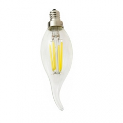 RANPO Dimmable E12 6W 110V LED Edison Candelabra Bulb, Warm/Cool White Dimmable Filament Candle Light,60W Equivalent