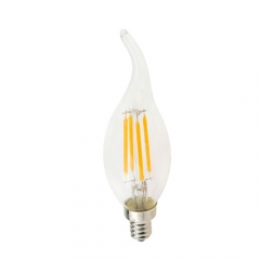 RANPO Dimmable E12 4W 110V LED Candelabra Bulb, Warm/Cool White Filament Candle Light,40W Equivalent