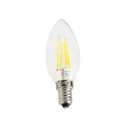 RANPO Dimmable E14 4W 220V LED Bulb, Warm/Cool White Filament Candle Light,40W Equivalent