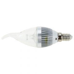 RANPO E14 LED Flame Candle Light Candelabra Sliver Shell 220V 3W High Power Chandelier 30W Incandescent Bulb Candle Bulb