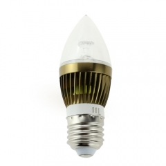 E27 AC 85-265V 4W Candelabra Bronze Shell High Power LED Flame Bulb Chandelier Candle Bulb Cool Neutral Warm White