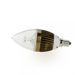 Dimmable E12 AC 110V 4W Candelabra Bronze Shell High Power LED Flame Bulb Chandelier Candle Bulb Cool Neutral Warm White