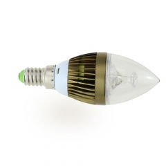 E14 AC 220V 4W Candelabra Bronze Shell High Power LED Flame Bulb Chandelier Candle Bulb Cool Neutral Warm White