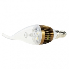 RANPO E14 5W LED Flame Candle Light Candelabra Brozen Shell High Power Chandelier 50W Incandescent Bulb Candle Bulb AC 85-265V