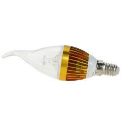 RANPO Dimmable  E14 4W LED Flame Candle Light Candelabra Golden Shell High Power Chandelier 40W Incandescent Bulb Candle Bulb AC 220V