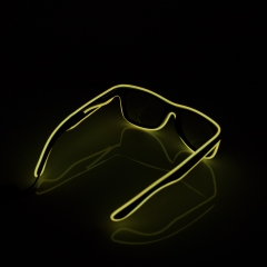 LED Special Neon Yellow EL Wire Glasses  + Controller Light Up Glow Sunglasses for Christmas Night Club Dark Party