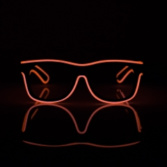LED Special Neon Orange EL Wire Glasses  + Controller Light Up Glow Sunglasses for Christmas Night Club Dark Party