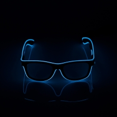 LED Special Neon  Sky-Blue EL Wire Glasses  + Controller Light Up Glow Sunglasses for Christmas Night Club Dark Party