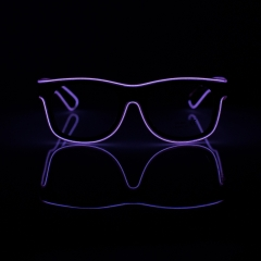 LED Special Neon Purple EL Wire Glasses  + Controller Light Up Glow Sunglasses for Christmas Night Club Dark Party
