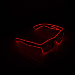 LED Special Neon Red EL Wire Glasses  + Controller Light Up Glow Sunglasses for Christmas Night Club Dark Party
