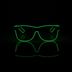 LED Special Neon Green EL Wire Glasses  + Controller Light Up Glow Sunglasses for Christmas Night Club Dark Party