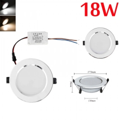 RANPO Dimmable 18W LED Recessed Ceiling Flat Panel Down Light Ultra Slim Bulb Lamps AC 110V/220V
