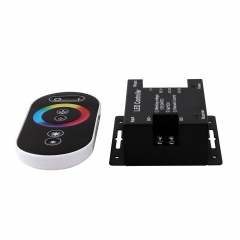 Ranpo 6 Key Wireless RF Dimmer Control Touch RGB Remote Black 12/24V 18A