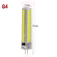 Dimmable G4 120leds Silicone Crystal LED Corn Bulb Light Lamp Cool Warm White AC 110V/220V