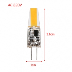 RANPO Ultra Bright 3W G4 1505SMD Silicone Crystal LED Corn Bulb SpotLight Lamp Cool Warm White AC 220V