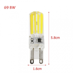 RANPO Ultra Bright 8W G9 2809SMD Silicone Crystal LED Corn Bulb SpotLight Lamp Cool Warm White AC 220V
