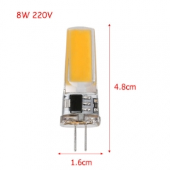 RANPO Ultra Bright 8W G4 2508SMD Silicone Crystal LED Corn Bulb SpotLight Lamp Cool Warm White AC 220V