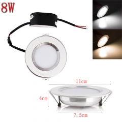RANPO 8W LED Recessed Ceiling Panel Down Lights Fixture Bulb Lamp Cool Warm Natural White AC 85-265V