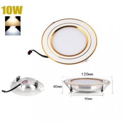 RANPO 10W LED Recessed Ceiling Lights Flat Panel Down Light Lamp AC 85-265V