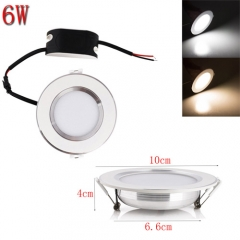 RANPO 6W LED Recessed Ceiling Panel Down Lights Fixture Bulb Lamp Cool Warm Natural White AC 85-265V
