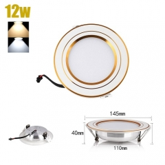 RANPO 12W LED Recessed Ceiling Lights Flat Panel Down Light Lamp AC 85-265V