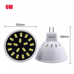 RANPO 6W MR16 24LEDs LED Light Bulb 110V 220V SMD5733 Lamp Spotligh Cool Warm White