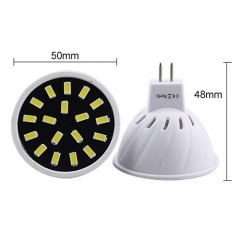 RANPO 4W MR16 18LEDs LED Light Bulb 110V 220V SMD5733 Lamp Spotligh Cool Warm White